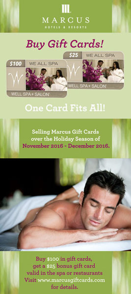 Marcus Hotels and Resorts Gift Card promo - Well Spa